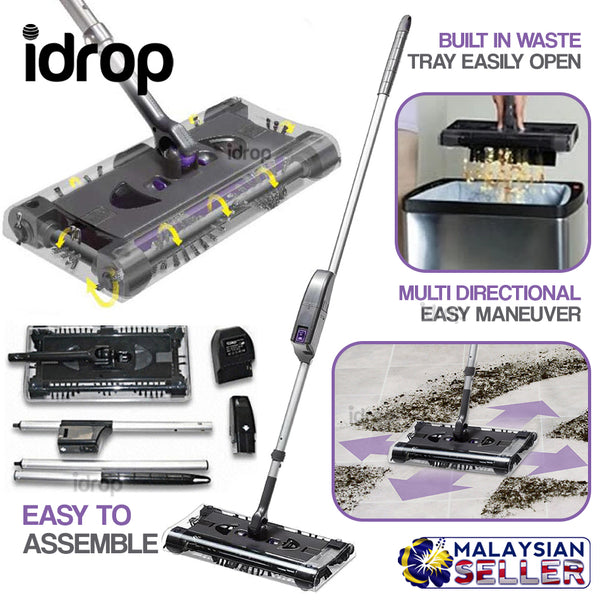 idrop 360 Multi Direction Maneuverable Floor Sweeper Cleaner