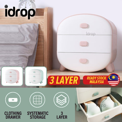 idrop 3 Layer Clothing Storage Drawer for Socks Underwear & Bra
