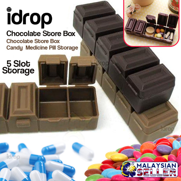 idrop Chocolate Store Box - Candy  Medicine Pill Storage
