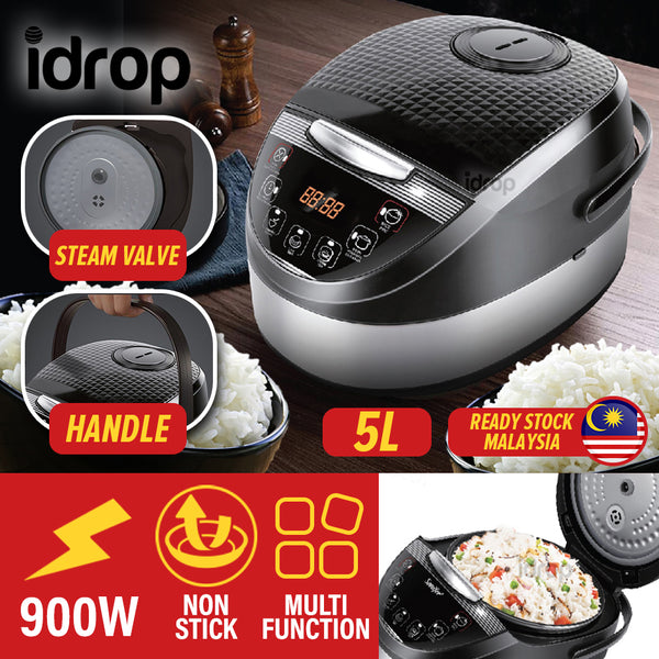 idrop [ 5L ] Multifunction Electric Kitchen Household Cooking Digital Rice Cooker