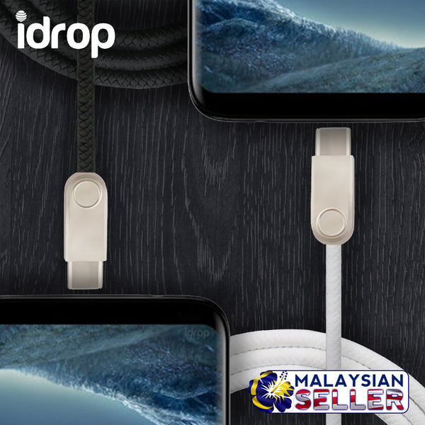 idrop Type C Charging / Data Transfer USB Cable | Black / White