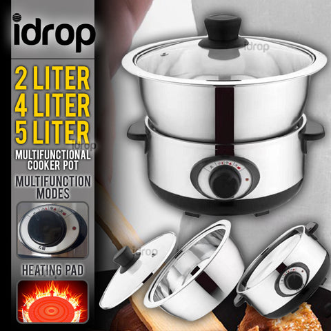 idrop Cooker Pot Multifunctional Electric Cooking Kitchenware [ 2L / 4L / 5L ]
