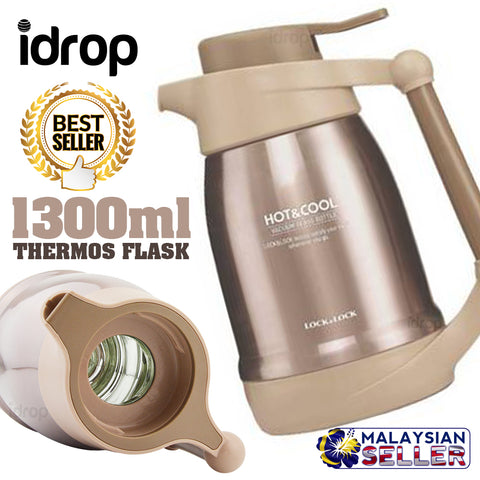 idrop 1300ml BUCKLE LOCK Insulation Thermal Flask Thermos Jug