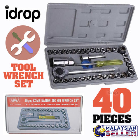 idrop AIWA [ 40pcs ] Combination Socket Wrench Set