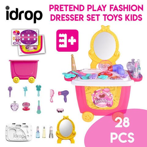 idrop Pretend Play Fashion Dresser Set Toys Kids
