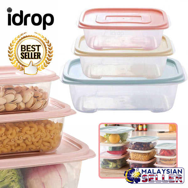 idrop THREE SIZE Food Storage Box Container