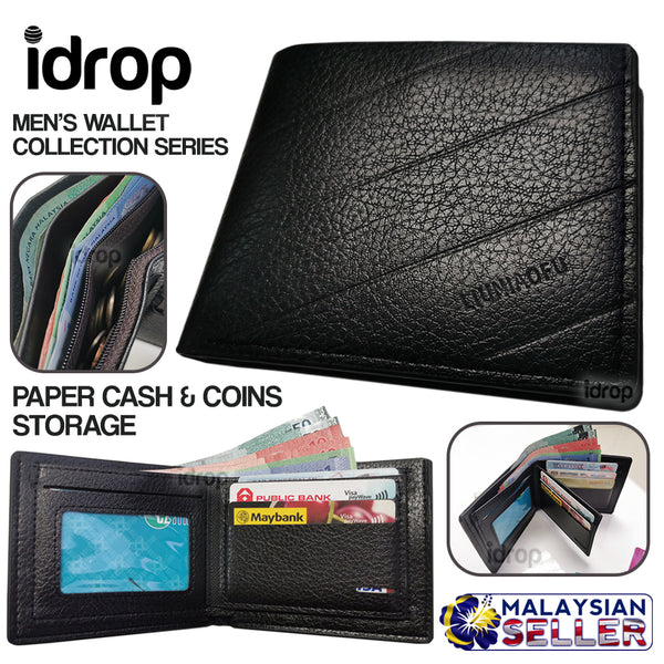 idrop Men's Wallet Standard Fold Body Collection Series [ LIUNIAOFU ]