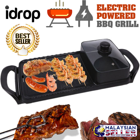 idrop ELECTRIC GRILL BBQ [ HSX-611A ] - Kitchen Barbecue Cooker