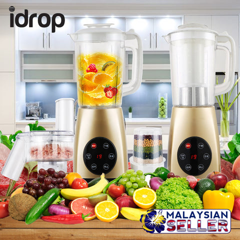 idrop Multipurpose Blender-Grinder-Slicer RZ-728B Meat Grinder - Fruit Juicer - Vegetable Slicer