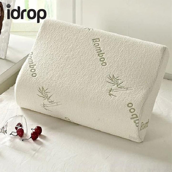 idrop Latex Bamboo Pillow with Soft Memory Foam inner for Cervical Spine comfort ease health care treatment