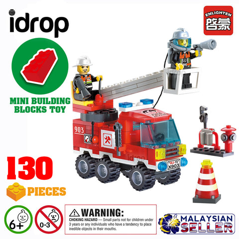 idrop ENLIGHTEN [ FIRE RESCUE ]- City Series Building Block Toy ( 130 pcs )