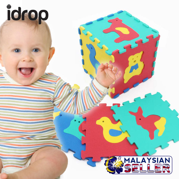 idrop ANIMALS EVA Puzzle Mat Colorful Color Piece Creativity and Imagination Learning