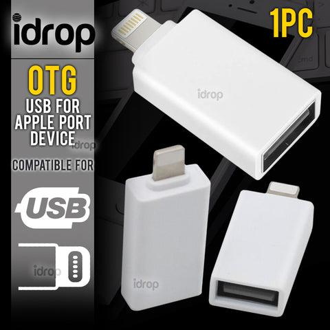 idrop OTG USB Compatible for Apple Device Port Flash Driver Adapter