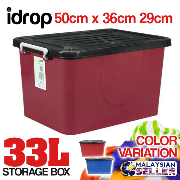 idrop 33L Storage Box with Wheel [ 7888SC ] [ 1 Box ]