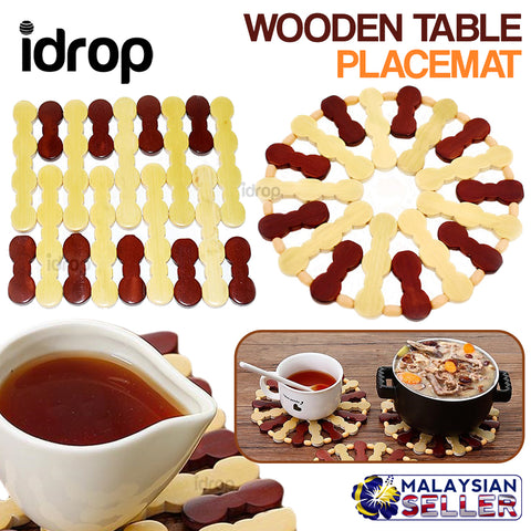idrop Wooden Table Placemat 18pcs Mat