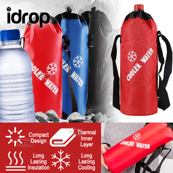 idrop Thermal Insulated Water Bottle Portable Easy Carry Cooler Bag