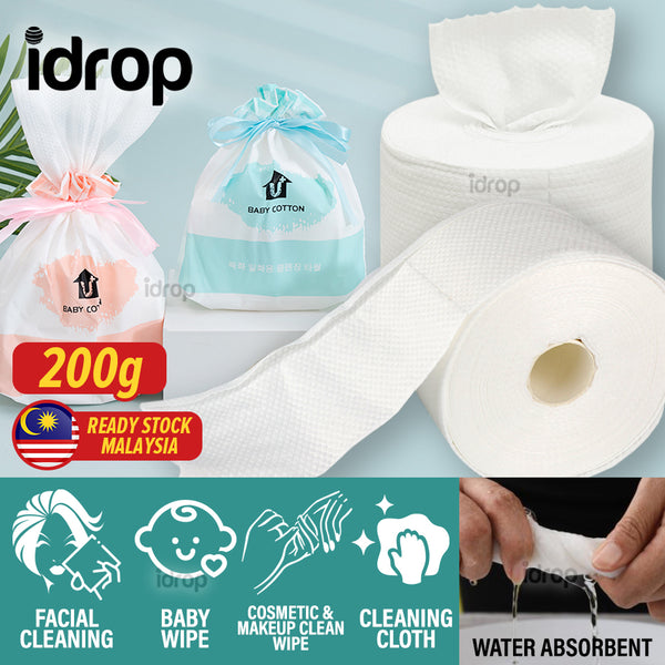 idrop Pure Cotton Multipupose Disposable Cleaning Towel Cloth