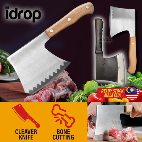 idrop Multipurpose Kitchen Meat & Bone Chopping Cleaver Knife