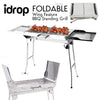 idrop Foldable BBQ Standing Grill - Wing Feature Medium Size Barbecue