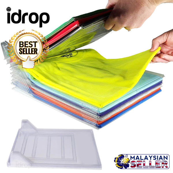 idrop CLOTHING FILE - 10 PACK Shirt Organizing System Storage Rack