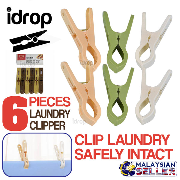 idrop Laundry Clipper Drying Clip [ 6pcs ]