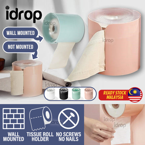 idrop Bathroom Toilet Wall Mount Toilet Paper Roll Wall Holder Roller