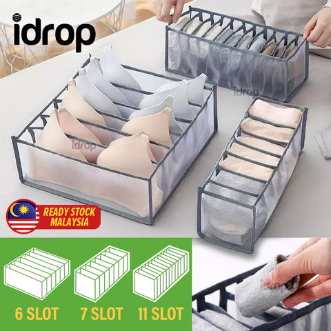idrop [ 3PCS / SET ] Household Underwear Socks & Bra Lingerie Drawer Cabinet Storage Box