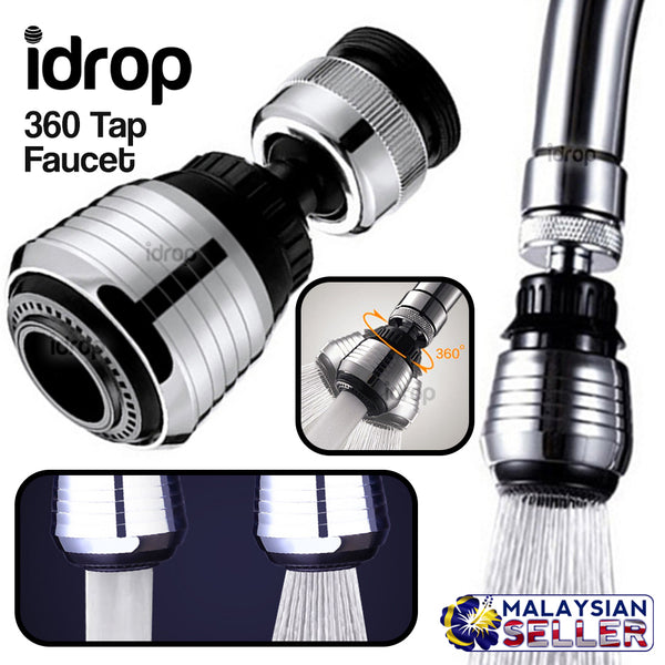 idrop 360 Dual Adjustable Water Filter Tap Faucet