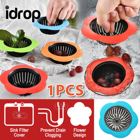 idrop Flower Kitchen Sink Drain Filter Silicone Cover