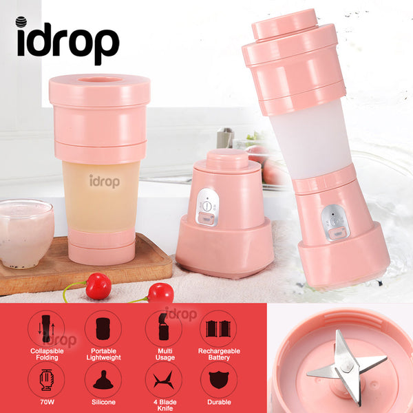 idrop 500ml Portable Electric Mini Juicer Collapsible Folding Blender Cup