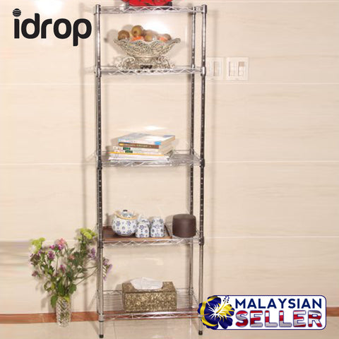 idrop 5 Tier layer Metal Shelving Rack - Home/Kitchen Storage Rack Shelves
