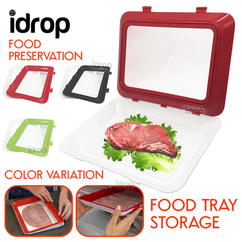 idrop Fresh Vacuum Food Keeping Storage Preservation Tray Container