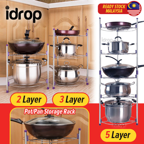 idrop Kitchen Multilayer Cooking Pot Pan Kitchenware Storage Rack