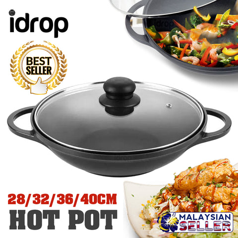 idrop HONHEY - 28 / 32 / 36 / 40CM Aluminium Alloy Cast Hot Pot