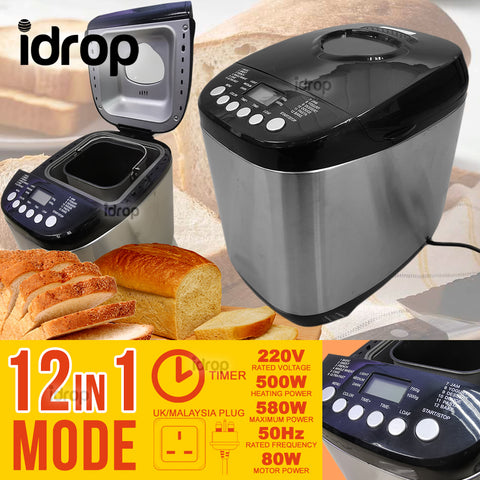 idrop 12 IN 1 Mode Multifunction Bread Cake Dough Maker Machine [ UK / MALAYSIA PLUG ]
