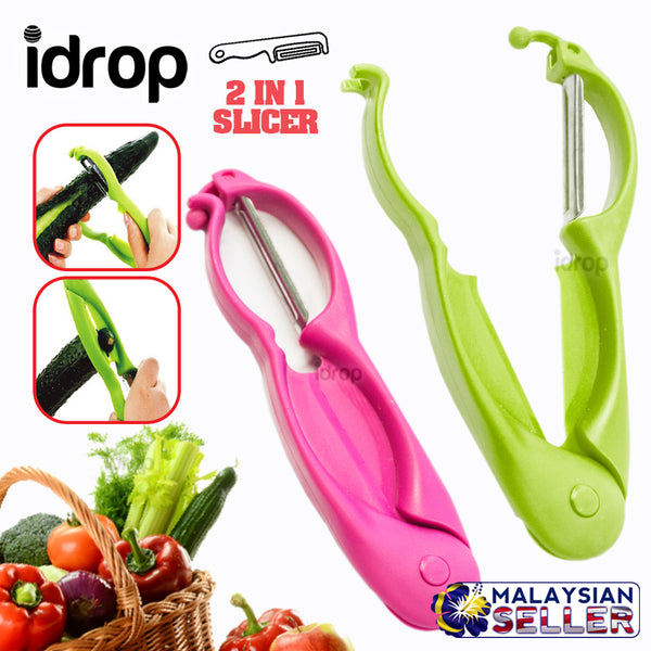 idrop 2 IN 1 Miracle Peeler - Fruit Vegetable Peeler & Snipper