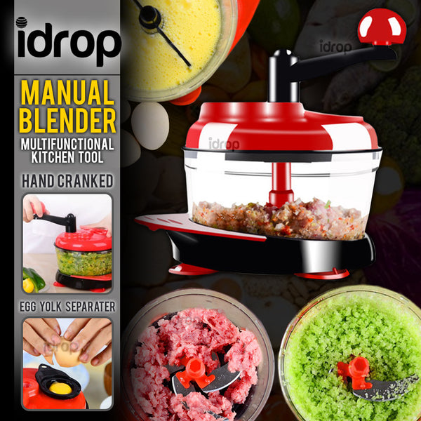 idrop Multifunctional Hand Manual Kitchen Food Grinder & Blender