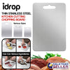 idrop Thin Stainless Steel Kitchen Cutting Chopping Board