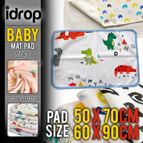 idrop Urine Diaper Changing Baby Mat Pad Padding [ 50x70cm / 60x90cm ]