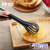 idrop 2 in 1 Kitchen Whisk Tong Clippers - Double task Lockable Tongs