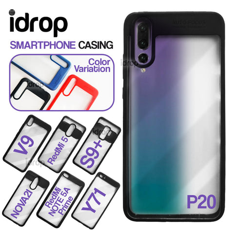 idrop Smartphone Durable Casing Cover with Transparent Surface [ Compatible for : P20 / S9+ / RedMi 5 / RedMi NOTE 5A prime / V9 / Y71 / NOVA2i ]
