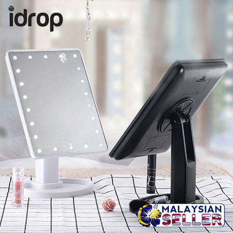 idrop Cosmetic Make-up Beauty Mirror - Rotatable Mirror & Built-in LED Lights