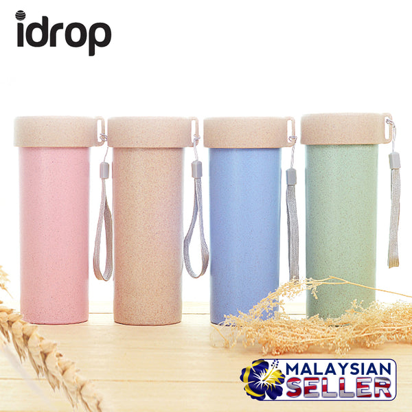 idrop Colorful Wheat Straw 480ml Water Bottle Container [ SET OF 2 PCS ] [ RANDOM MIXED COLOR ]