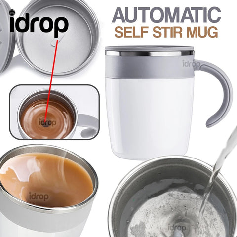 idrop 320ml Self Stirring Heat Magnetic Drinking Mug
