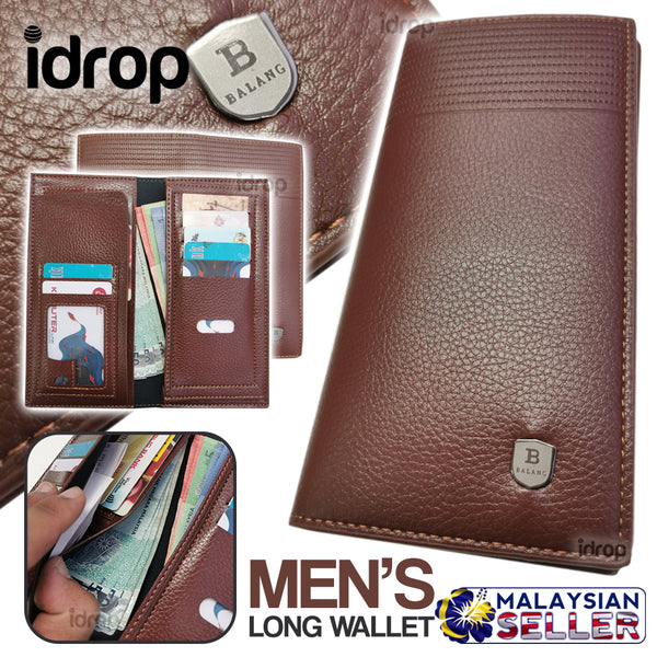 idrop BALANG Men's Long Wallet Fold Body [ PU A-228 ]