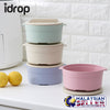 idrop Colorful Wheat Straw Container With Lid [ 1 PC ] [ RANDOM COLOR ]