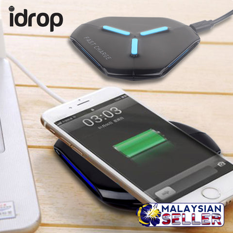 idrop Fast Charge Wireless Charging Plate Thin Compact Portable design