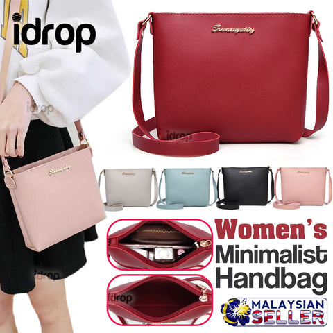 idrop Women's Casual Minimalist Single Sling Handbag