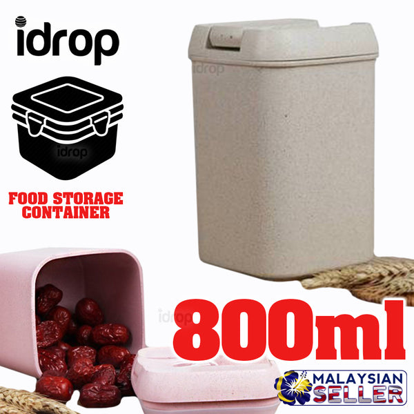 idrop 800ml CUBE CONTAINER - Tight Seal Food Storage