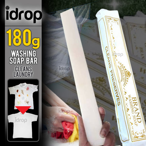 idrop 180g Detergent Cleaning Laundry Soap Bar [ 1pc ]